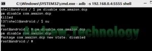 ADB shell pm disable com.amazon.dcp