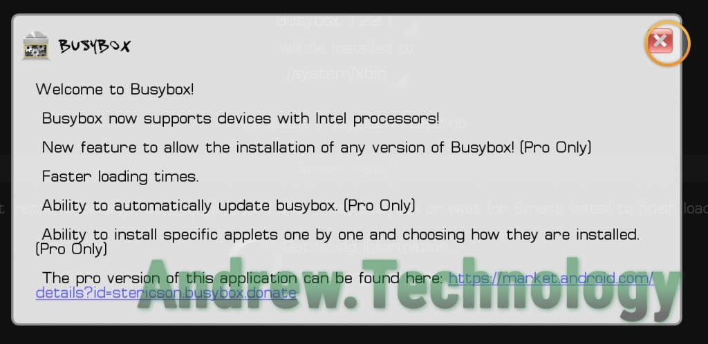 BusyBox Welcome Message
