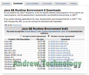 Java SE Runtime Environment 8 Downloads x64