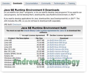 Java SE Runtime Environment 8 Downloads x64
