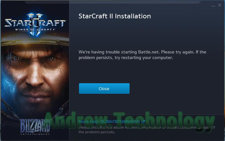 Battle.net App error BLZBNTBTS0000005D