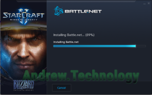 Battle.net App Install stuck at 89%