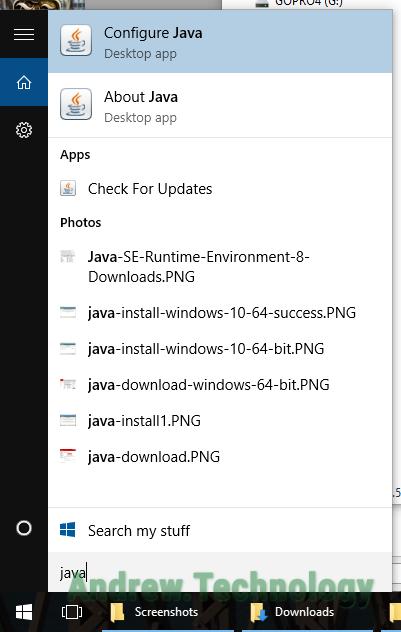 Install 64-bit Java in Windows 10 x64