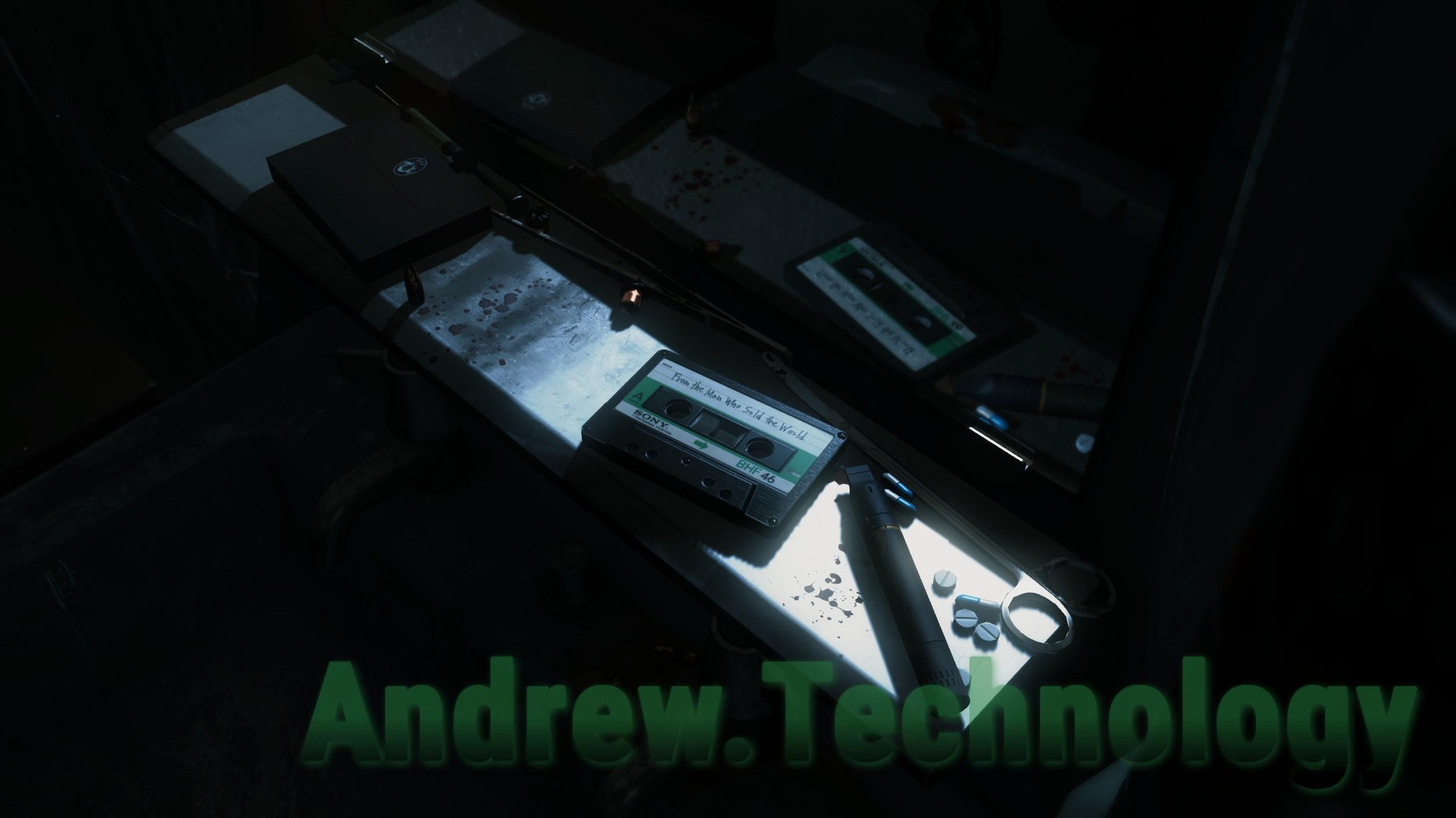 Ammo, pills, David Bowie cassette tape.