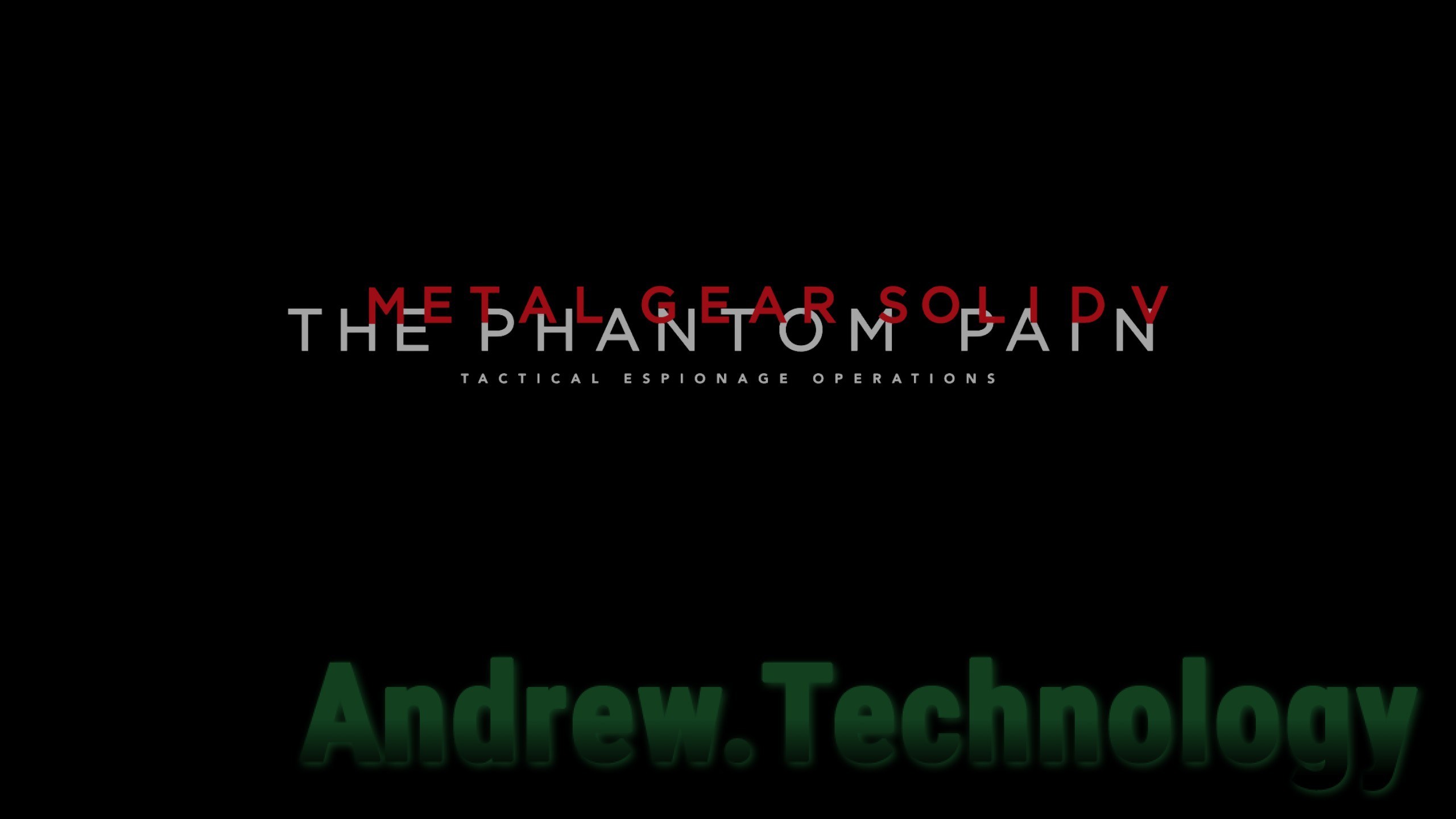 Metal Gear Solid V: The Phantom Pain Tactical Espinogage Opertions title