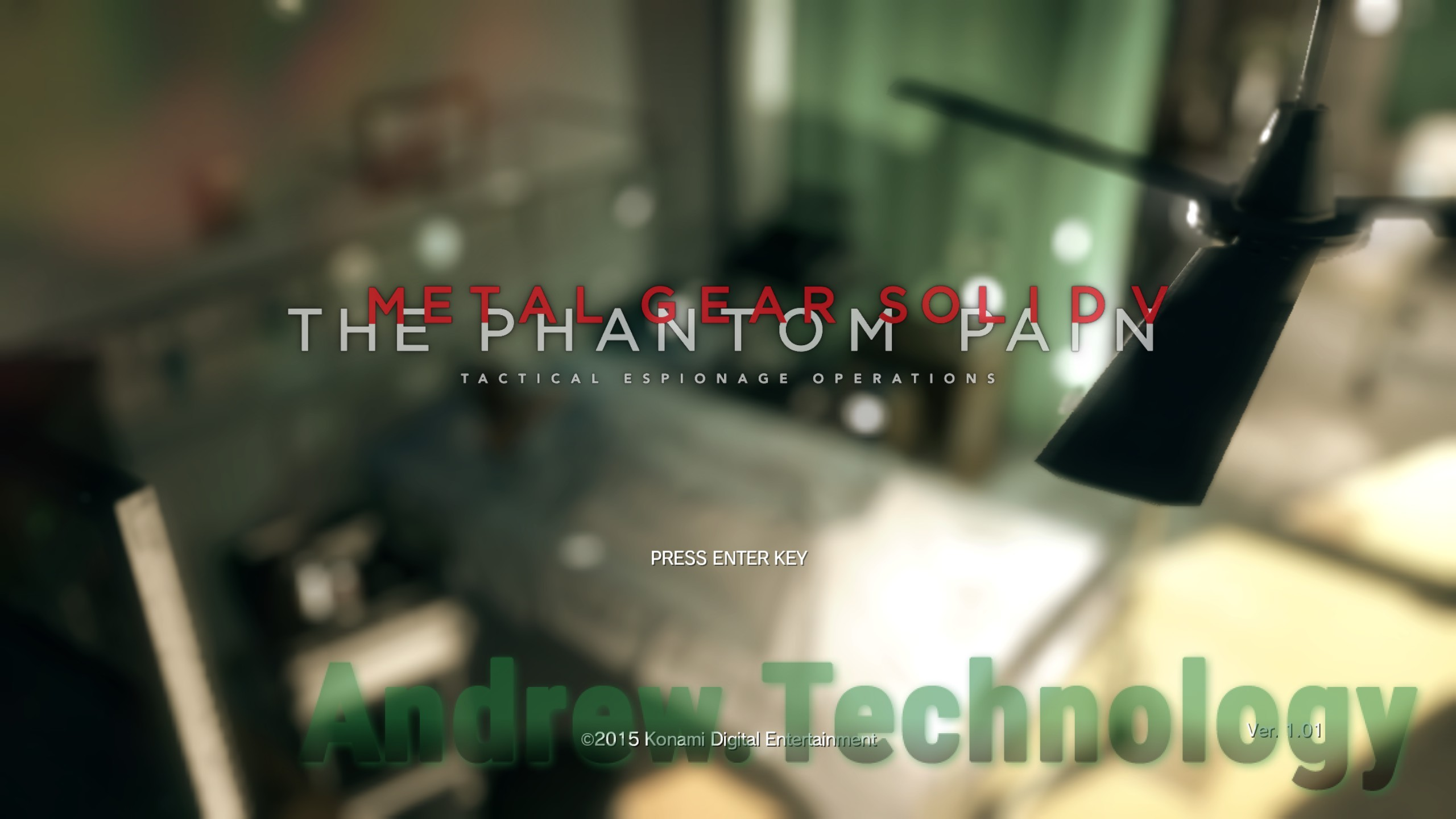 Metal Gear Solid V: The Phantom Pain Tactical Espinogage Opertions title press enter key