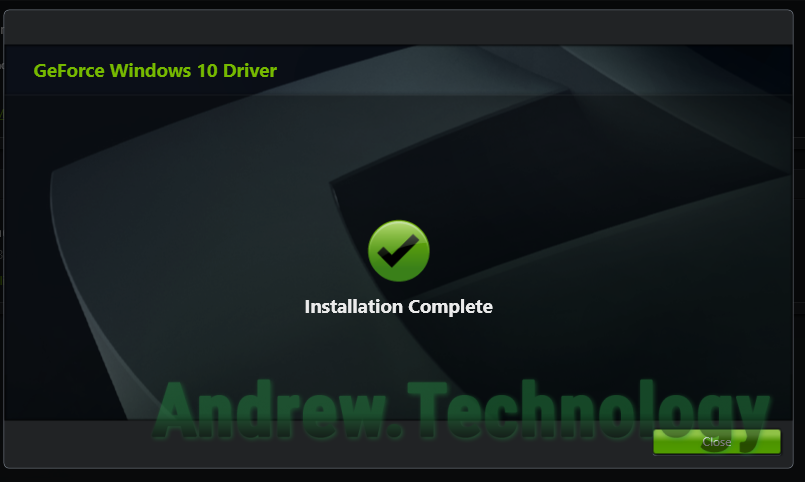 NVIDIA GeForce Experience - Installation Complete