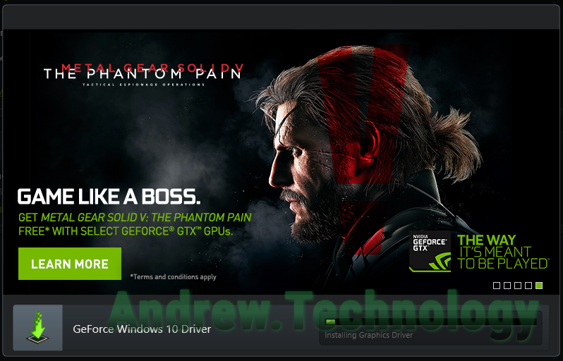 NVIDIA GeForce Experince install driver 355.82 Metal Gear Solid V The Phantom Pain