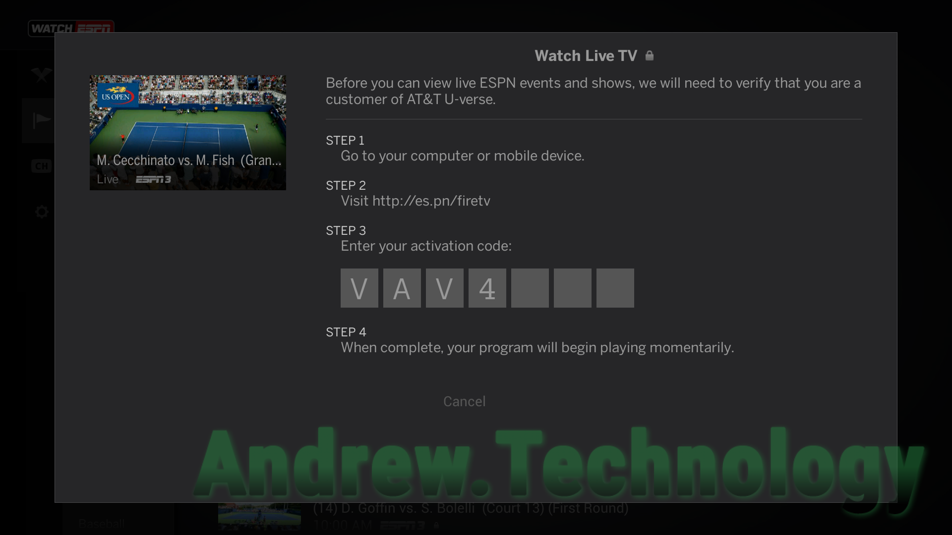 Install & Activate WatchESPN for Fire TV