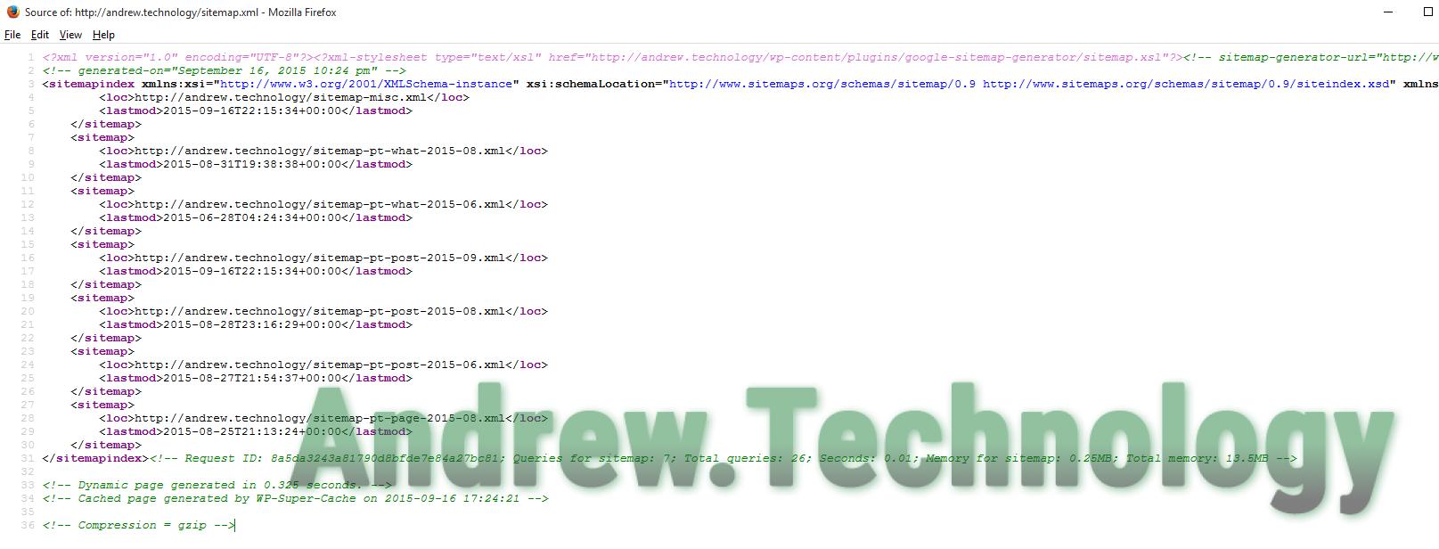 WordPress sitemap.xml valid not white space