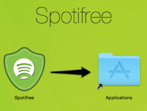 Spotifree Mac OS X Install DMG Appllications folder