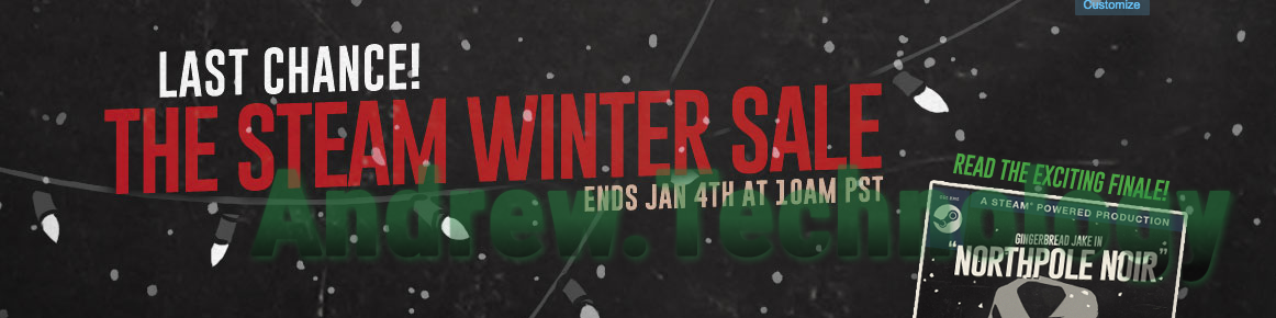 Steam Winter Sale 2015 Last Chance! Ends Jan 4th at 10am PST