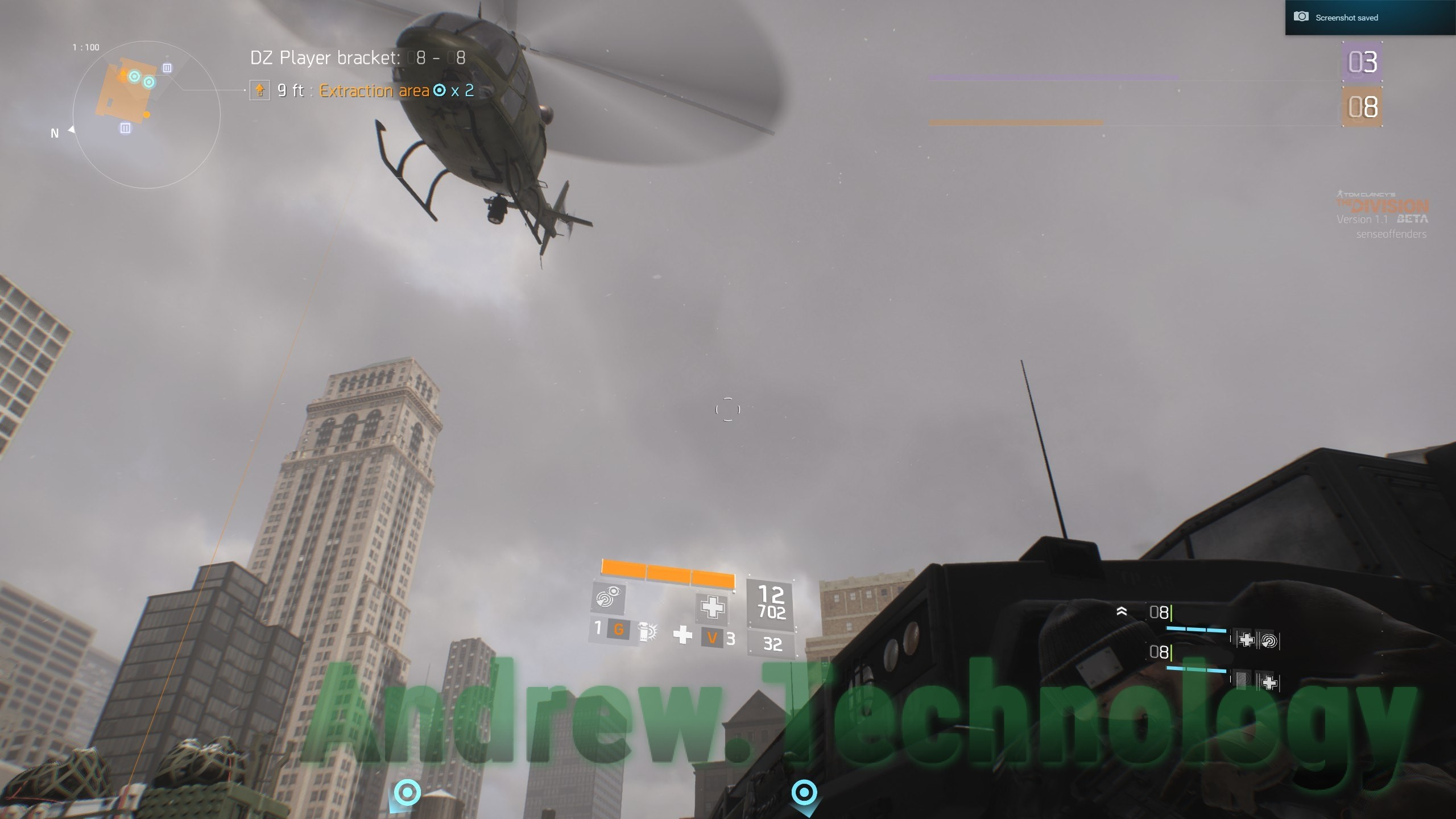 The Division Dark Zone Helicopter Extraction Area